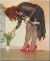 jupe cuir corset noir 58