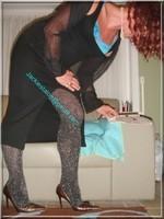 robe noir collant brillant 27