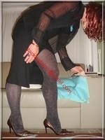 robe noir collant brillant 24