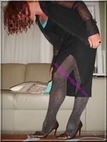 robe noir collant brillant 34