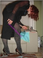 robe noir collant brillant 28