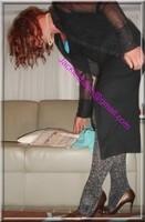 robe noir collant brillant 31