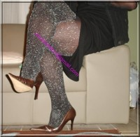 robe noir collant brillant 37