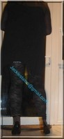 minijupe jeans top noir 2