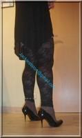 minijupe jeans top noir 21