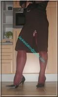 jupe longue maron et bas