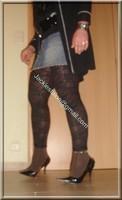 minijupe jeans top noir legging dentelle marron 13