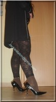 minijupe jeans top noir legging dentelle marron 15