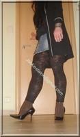 minijupe jeans top noir legging dentelle marron 22