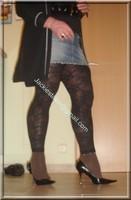 minijupe jeans top noir legging dentelle marron 17