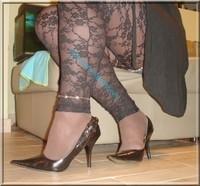 minijupe jeans top noir 10