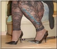 minijupe jeans top noir 9