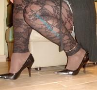 minijupe jeans top noir 11