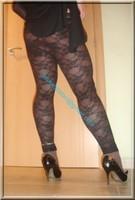 minijupe jeans top noir 20