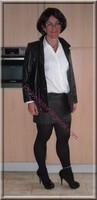 minijupe cuir veste cuir 14