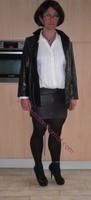 minijupe cuir veste cuir 16