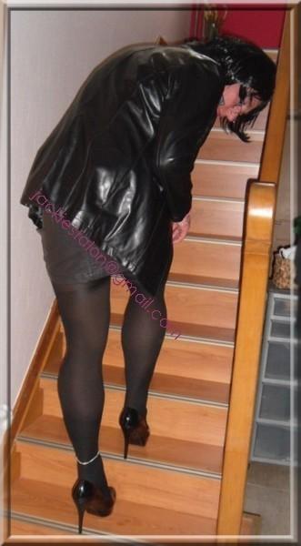 minijupe cuir veste cuir 26