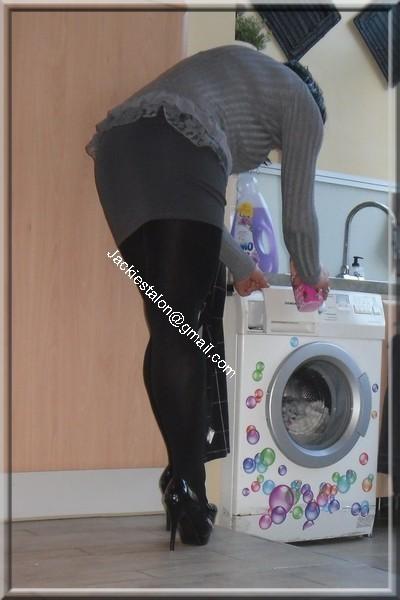 minijupe grise blouse grise 34