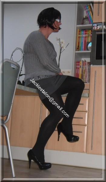 minijupe grise blouse grise 53
