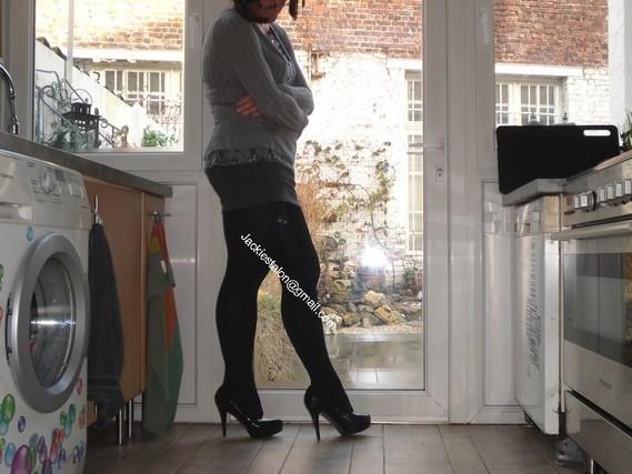 minijupe grise blouse grise 108