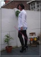 minijupe jeans chemise blanche5