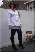 minijupe jeans chemise blanche7