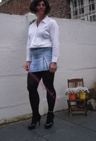 minijupe jeans chemise blanche15