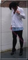 minijupe jeans chemise blanche10
