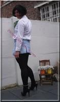 minijupe jeans chemise blanche11