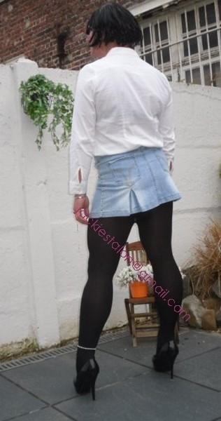 minijupe jeans chemise blanche18