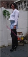 minijupe jeans chemise blanche14