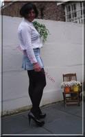 minijupe jeans chemise blanche13
