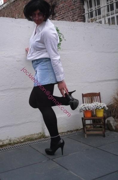 minijupe jeans chemise blanche20