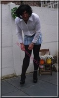 minijupe jeans chemise blanche17