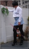 minijupe jeans chemise blanche24