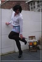 minijupe jeans chemise blanche21