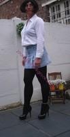 minijupe jeans chemise blanche23