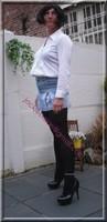 minijupe jeans chemise blanche22