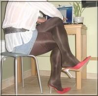 minijupe jeans avec cadre
