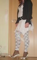 robe blanche collants dentelle 13