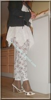 robe blanche collants dentelle 25