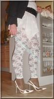 robe blanche collants dentelle 30