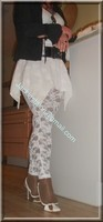 robe blanche collants dentelle 33