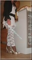 robe blanche collants dentelle 31