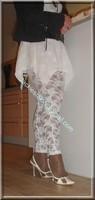 robe blanche collants dentelle 32