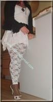 robe blanche collants dentelle 34
