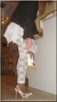 robe blanche collants dentelle 42
