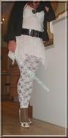 robe blanche collants dentelle 37