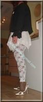 robe blanche collants dentelle 39