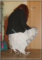 robe blanche collants dentelle 44